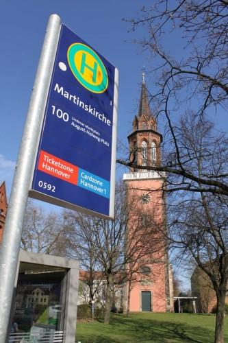 St. Martinskirche - Damals noch ohne Bushaltestelle