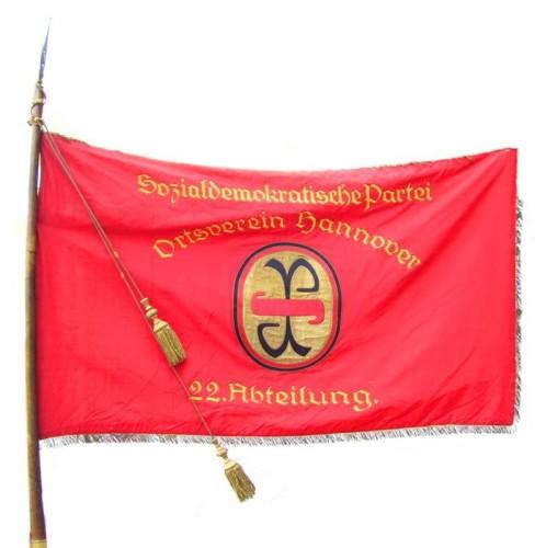 Rote Fahne der 22. Abteilung der SPD