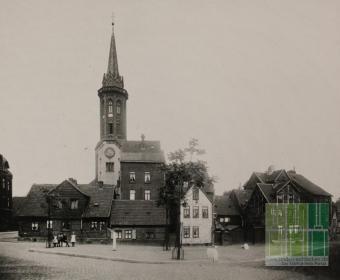 An der Martinskirche - Alte Wohnhäuser 1908