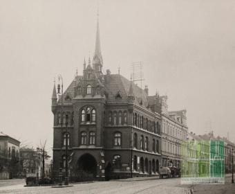 Deisterstraße - Blick auf das alte Rathaus 1912
