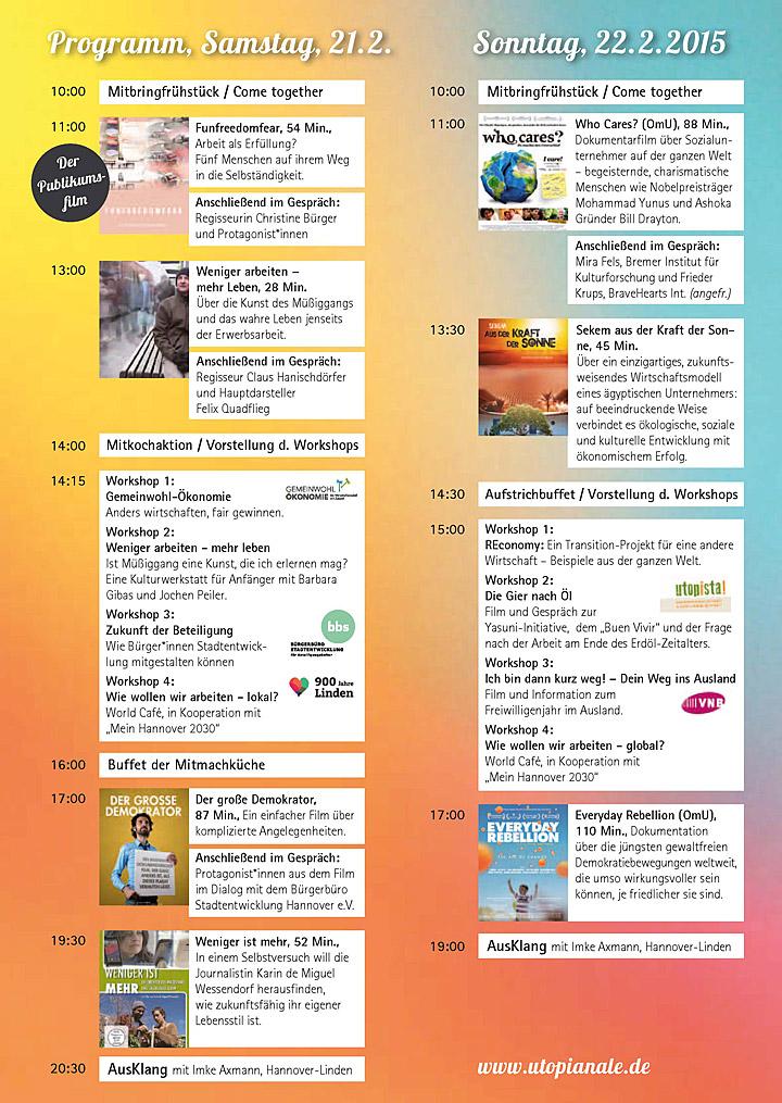 Programm 3. Utopianale 2015