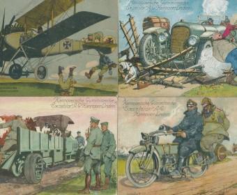 Excelsior-Werbekarten 1. Weltkrieg