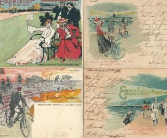 Excelsior-Werbekarten, um 1900