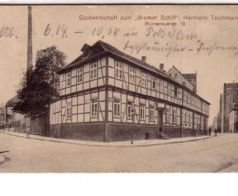 Um 1910. Hier verkehrten die Schiffer (Postkarte: Sammlung Jürgen Wessel).