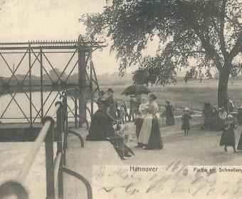 Schneller Graben-Wehr, Vorfluter-Anlage gegen Überschwemmungen, um 1900.