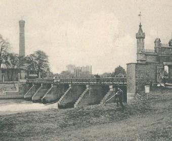 Limmer-Wehr, um 1902