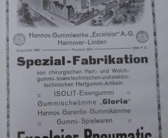 Werbeanzeige im Hannoverschen Courier. Sonderheft anlässlich der Rathauseinweihung, 1913